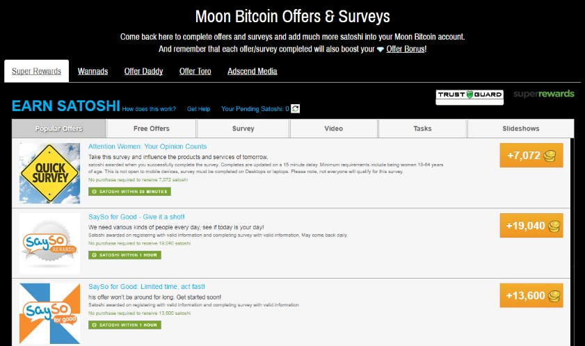 how to earn free bitcoins with high paying offers and surveys