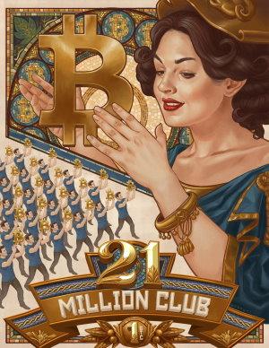 Bitcoin 21 Million Club freecoyn