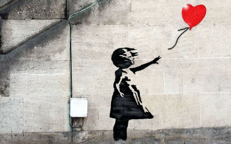 Banksy girl with a balloon freecoyn