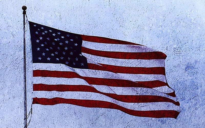 American flag freecoyn