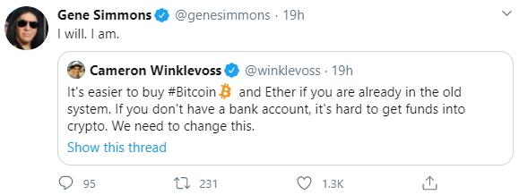 gene simmons kiss tweet freecoyn