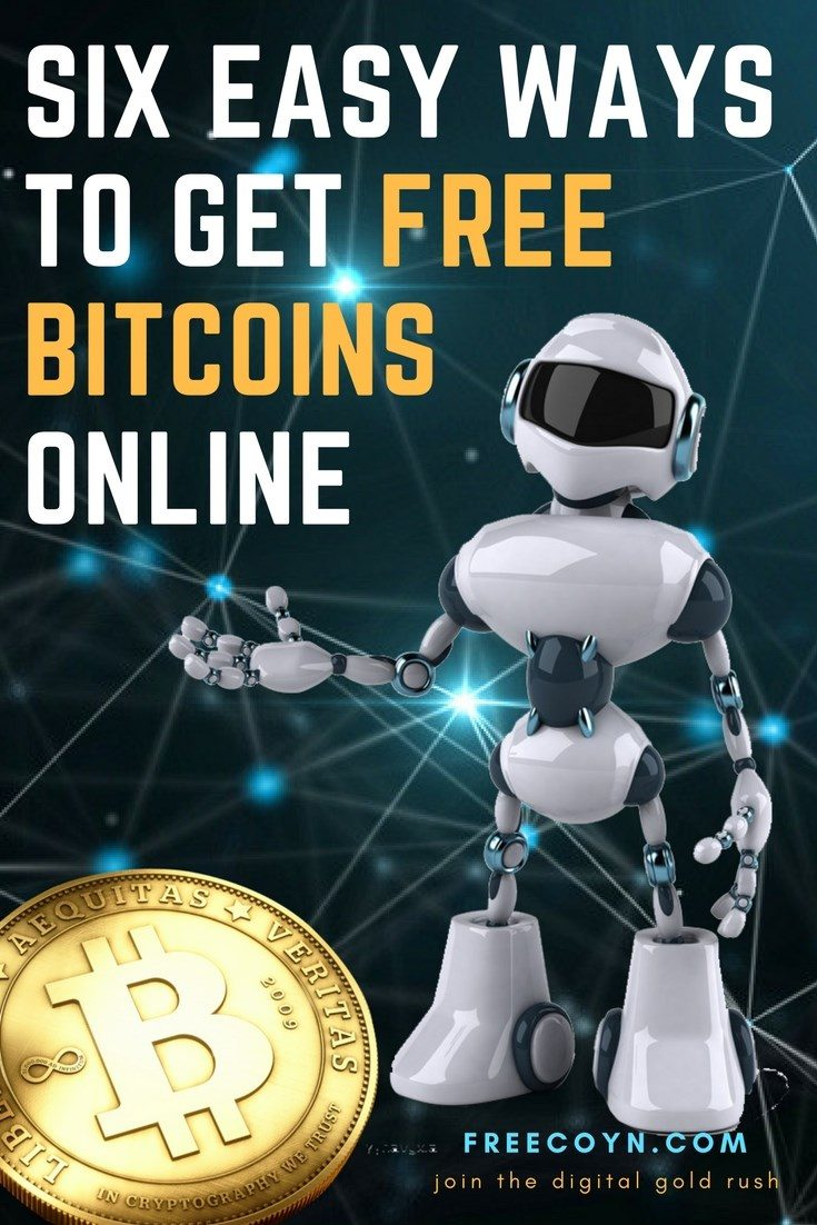 six ways to earn free bitcoins online pin 1
